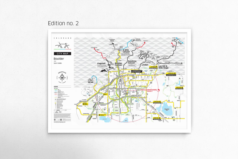 Boulder City Map Poster // Edition 2 — Boulder Bike Map