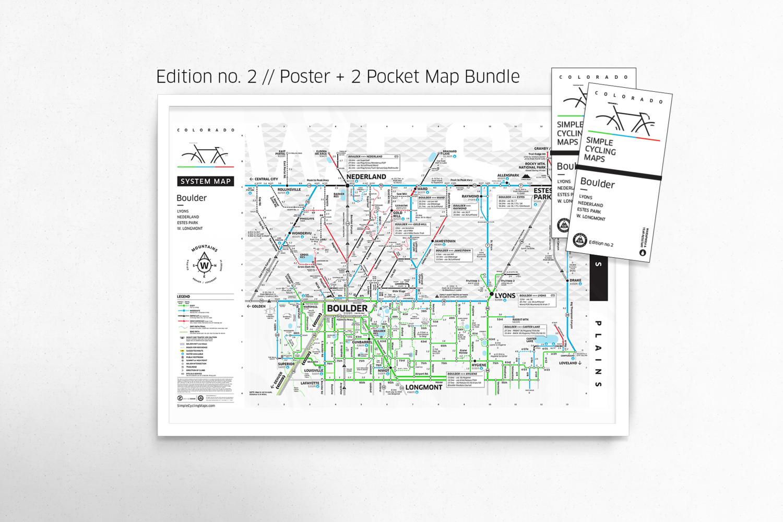 Subway Map Bike.Boulder Map Bundle Edition 2 Boulder Bike Map