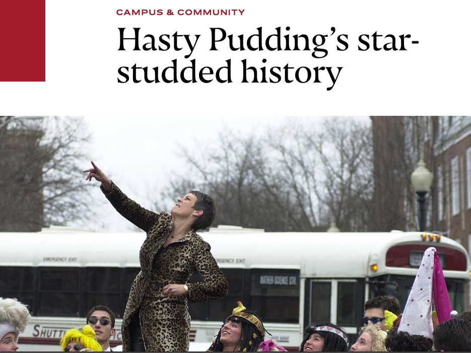 I got to pore through the Harvard Archives to compile this photo gallery of Hasty Pudding's Men and Women of the Year.