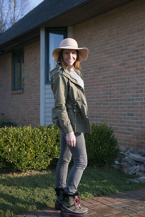 A rare one of me in front of the camera sporting this great hat from Anthropology and jacket from Forever 21- www.lisavillellaphotography.com