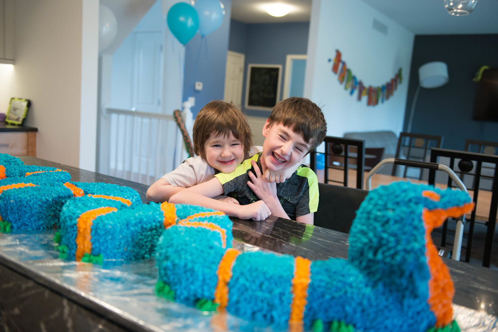 My boys were pretty excited about the King Cobra cake!  We are ready to get this party started!  www.lisavillellaphotography.com