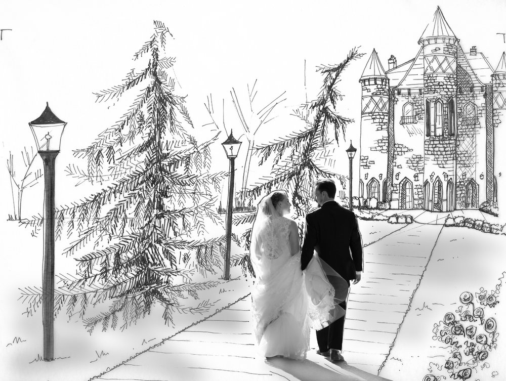 Photo-sketch-custom-fine-art-castle-lisa-villella-photography