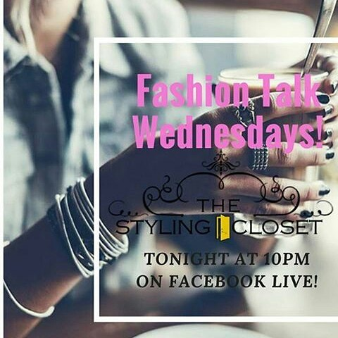 Tonight 10pm join us on Facebook for Fashion Talk Live.  We will be discussing upcoming events, girls night out and giveaways. #wednesday #thestylingcloset #stylist #fashion #trendy #style #makeover #wiw #ootd #mensfashion #menswear  #fashiontalk #fashionblogger #fashionevents #womensfashion #personalshopper #wardrobe #detroit #fashionstylingtips