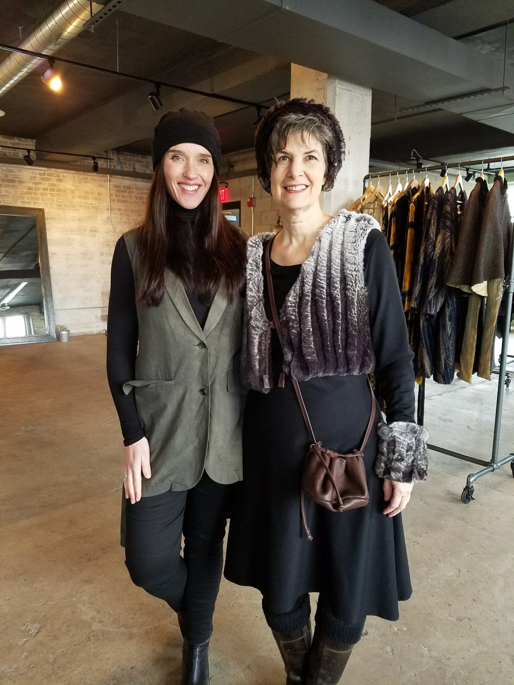 Erin Wetzel, Owner Orleans & Winder and Designer Leslie Pilling.