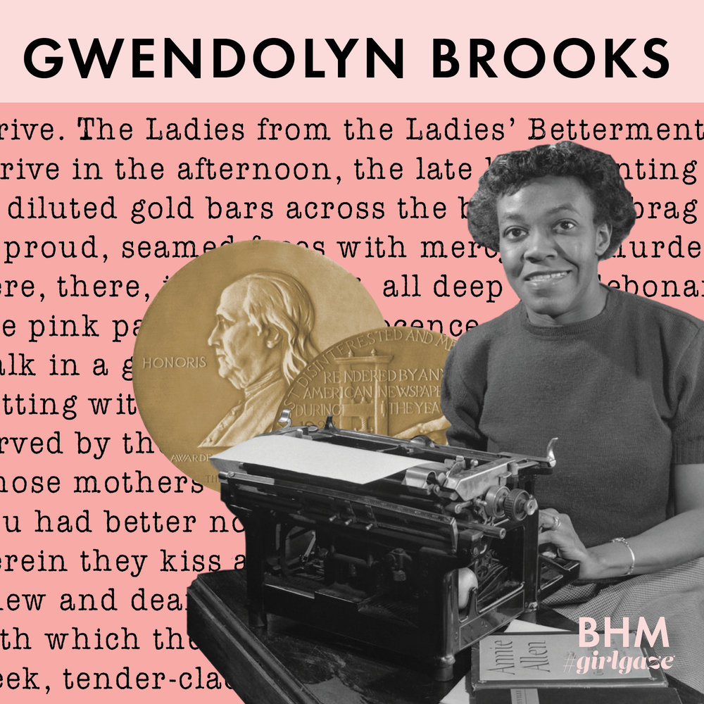 "Gwendolyn Brooks' poems are considered one of the most influential and widely read of 20th-century American poetry.Brooks' work centered around the theme of Blacks living in everyday urban life in America and reflections upon civil rights activism of her time.     Distinguishing herself with her work, she became the first Black author to win the prestigious Pulitzer Prize for her poetry book called ""Annie Allen."" Other titles she held were poetry consultant to the Library of Congress, in which she was the first black woman to hold the position, and poet laureate of the State of Illinois. The pen is mightier than the sword and Gwendolyn fully utilized the power of her words through her poetry."