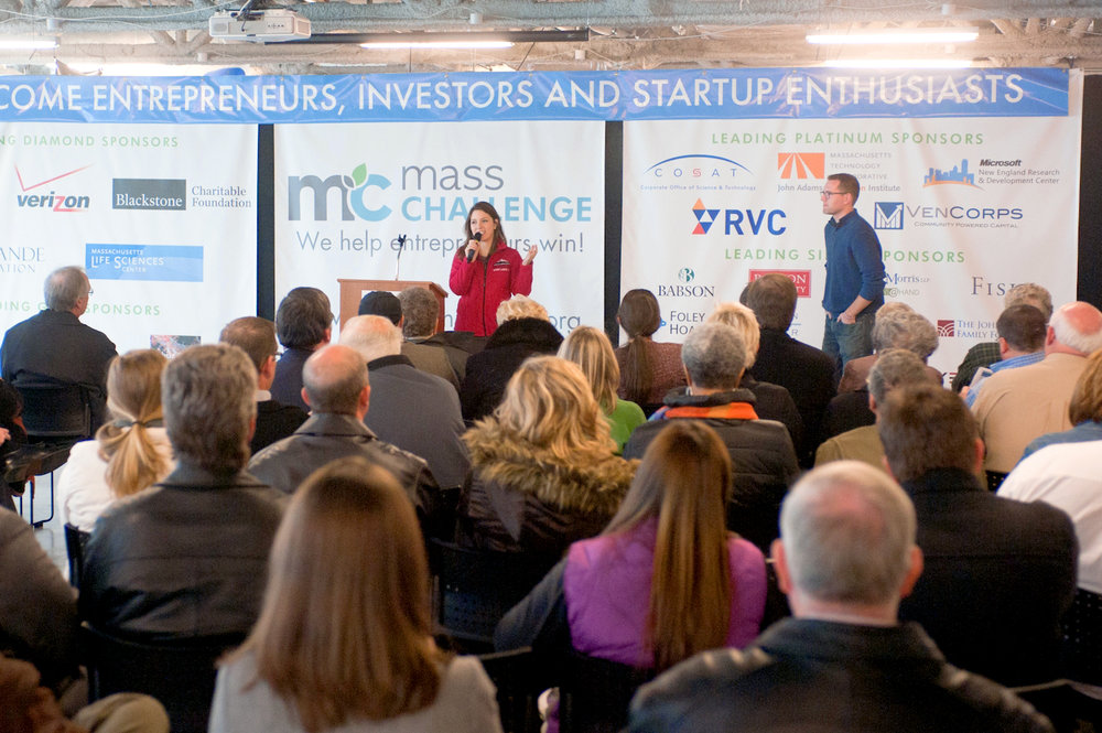 Speaking at MassChallenge, the world's largest startup accelerator program and one of our core partners in creating the Innovation District.
