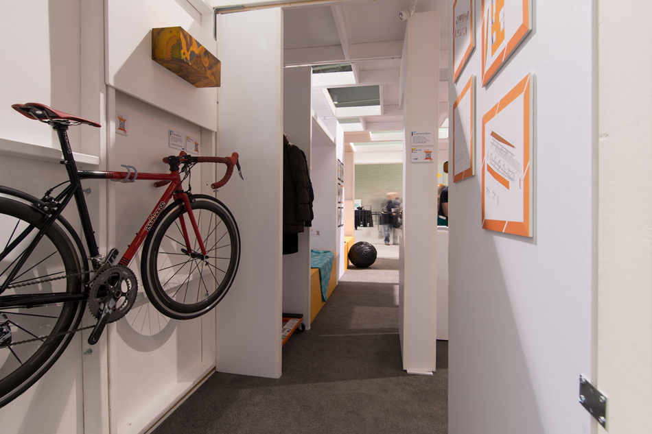 Images of a prototype micro-unit created by local architecture firm Stantec. This unit was on display in the Innovation District so that the public could come in, check it out and give feedback about the direction to inform our innovation housing strategies.