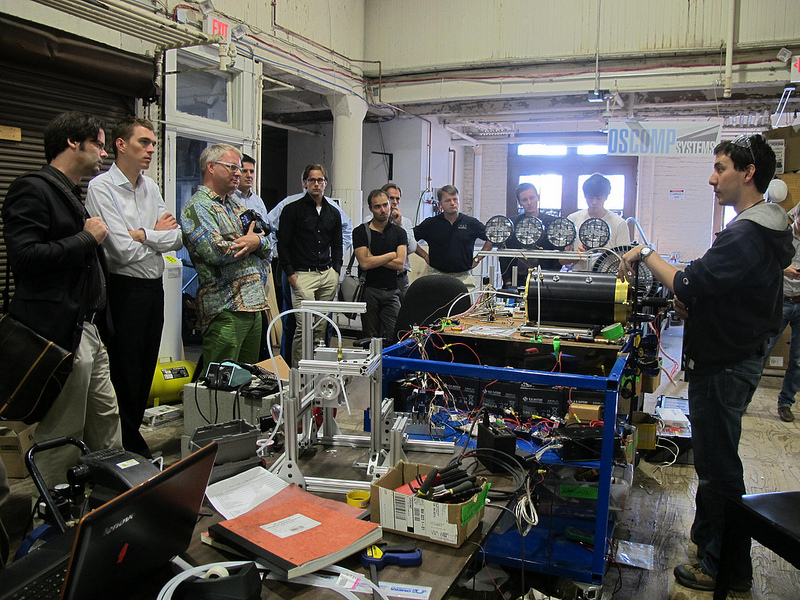 Prototypes at Greentown Labs, a cleantech incubator that got its start in the Innovation District.