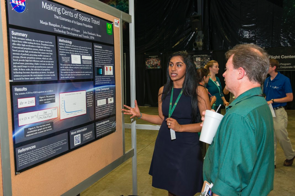 MSFC intern poster session.