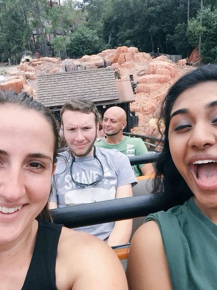 Disneyworld with Johnie and Amanda.