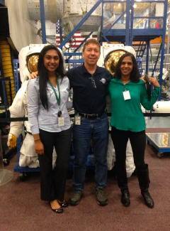 Mom and I with Astronaut Barratt.