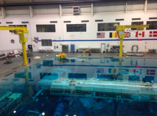 Neutral Buoyancy Lab, where the astronauts train.