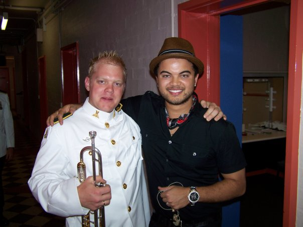 Phill O'Neill Trumpet player with Guy Sebastian Singer