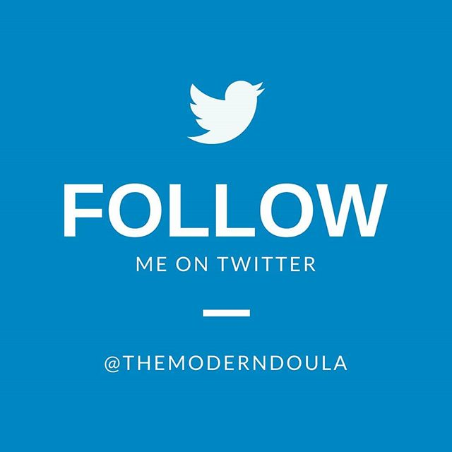Occasionally I tweet too! Are you on Twitter? https://twitter.com/themoderndoula