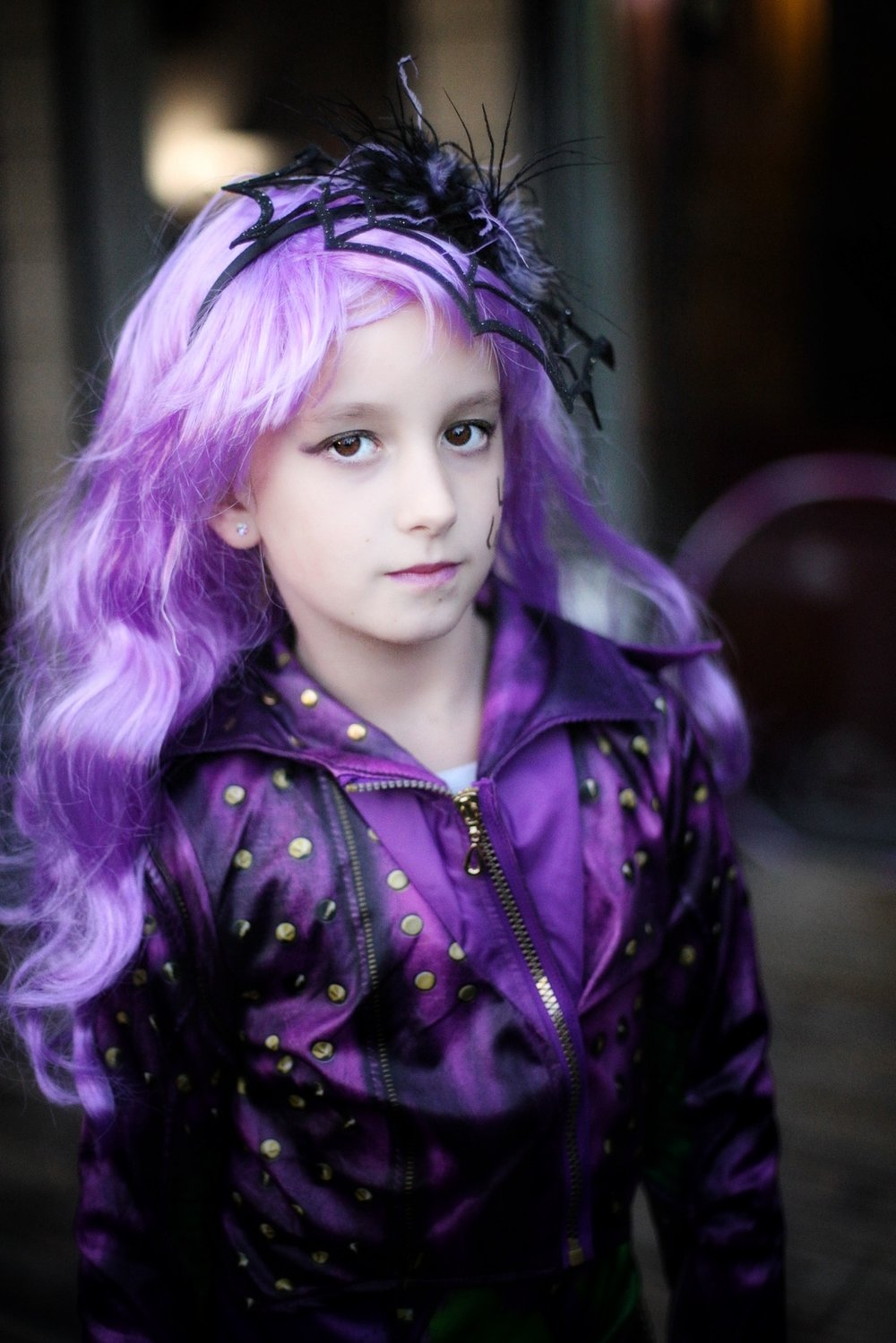 My gorgeous girl as Mal from The Descendants. How is she so grown up already?!