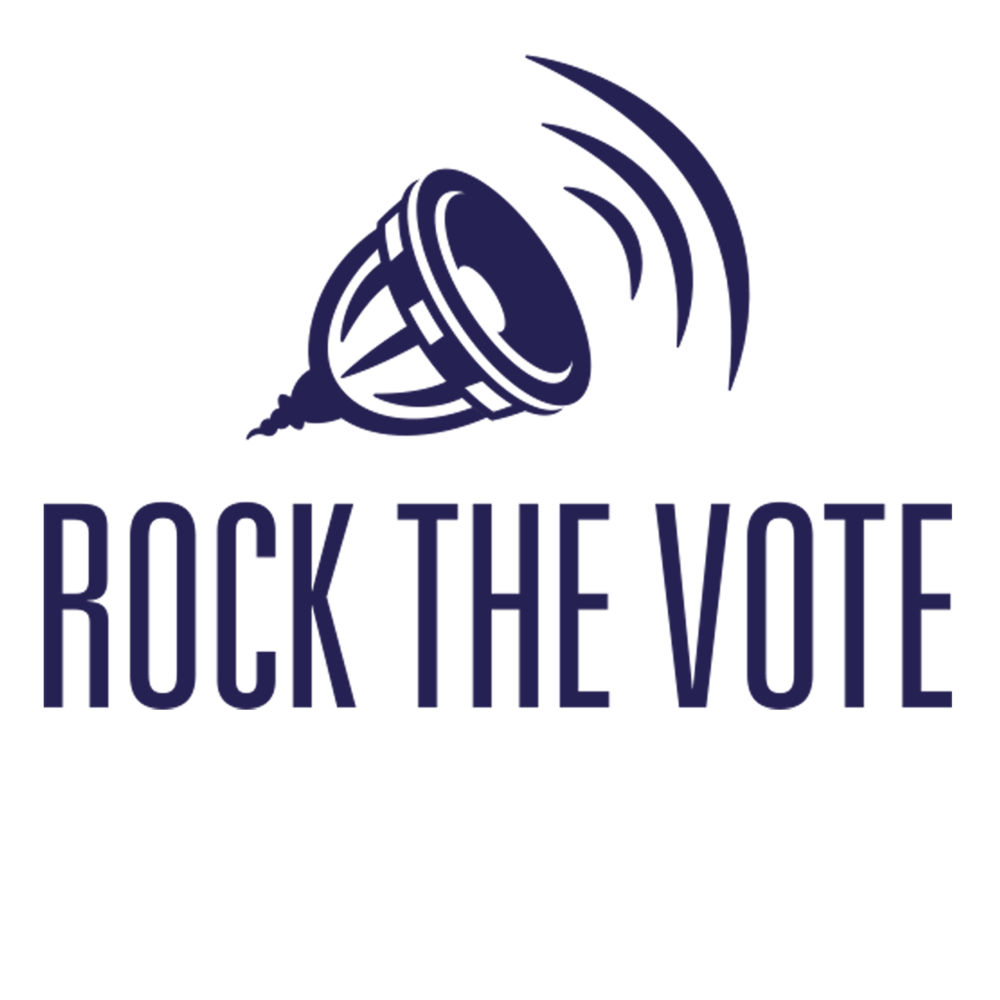 Rock The Vote  Rock the Vote is a non-profit, nonpartisan organization is focused on fusing the gap between pop culture, politics and technology. Their main goal is to encourage youth to act upon their right of choice and right to vote by providing easier access to register to vote as well as holding promotional concerts.