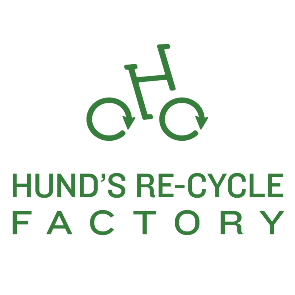 Hund's re-cycle factory  Hund's Re-Cycle Factory is a locally owned bike shop that takes in old bikes and repurposes the usable parts into newly recycled bicycles.