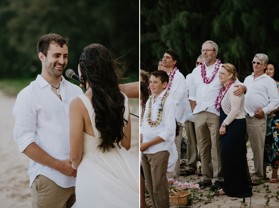 Couple Getting Married on the Beach in Hawaii