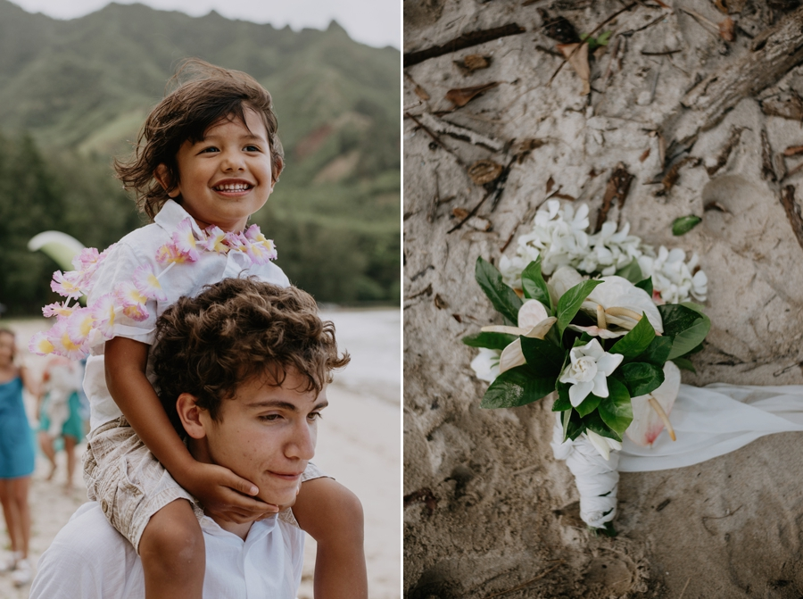 Kids and Wedding Bouquet