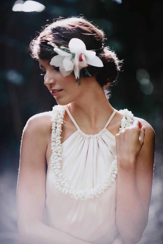 Wedding Portrait of Bride in Wedding Dress