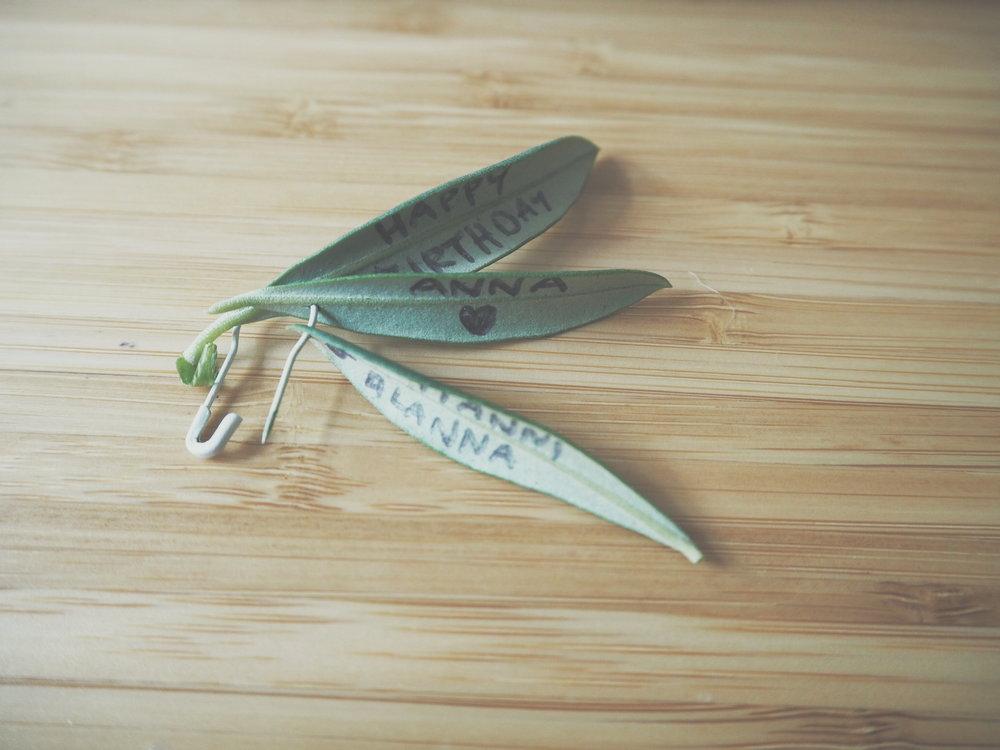 Sustainable gift tag, DIY gift tag, natural gift tag Christmas wrapping