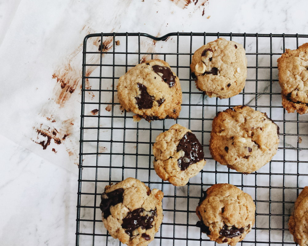 Healthy Dark Chocolate Hazelnut and Sea Salt Cookies Recipe