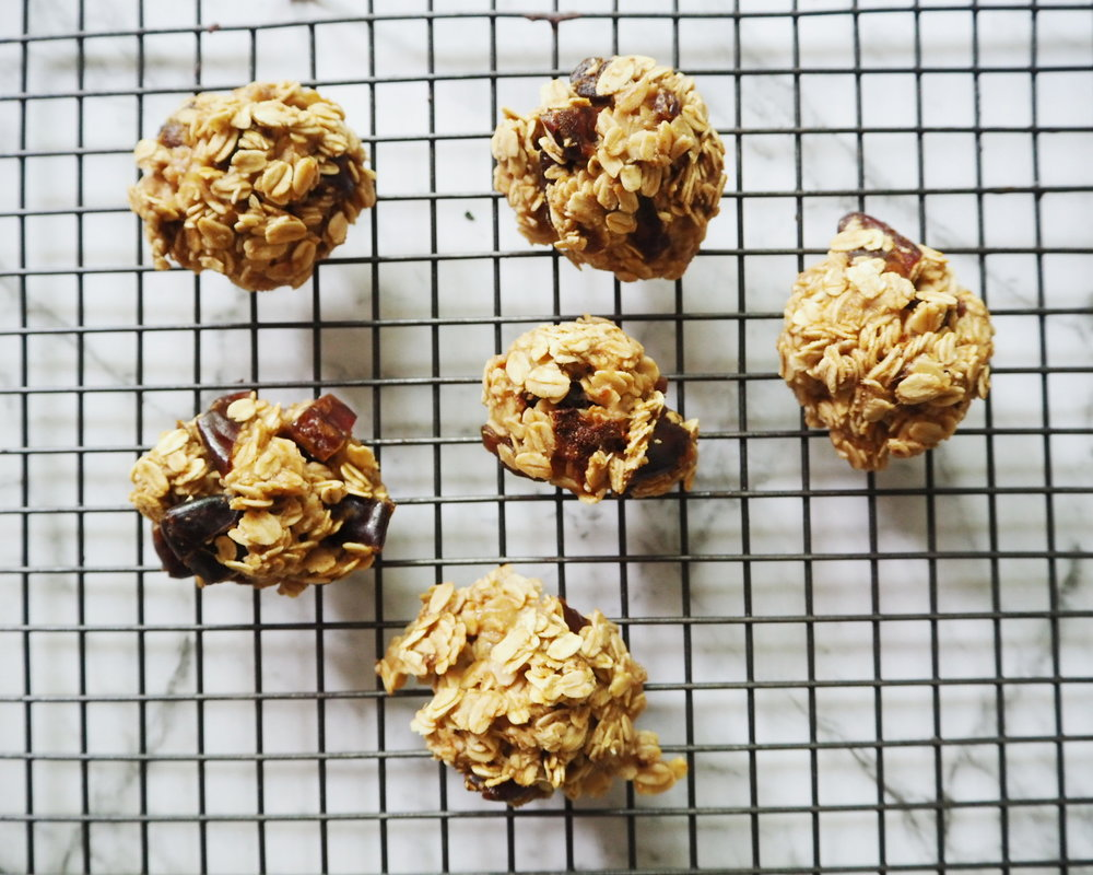 easy banana oat cookies, kids lunch box idea