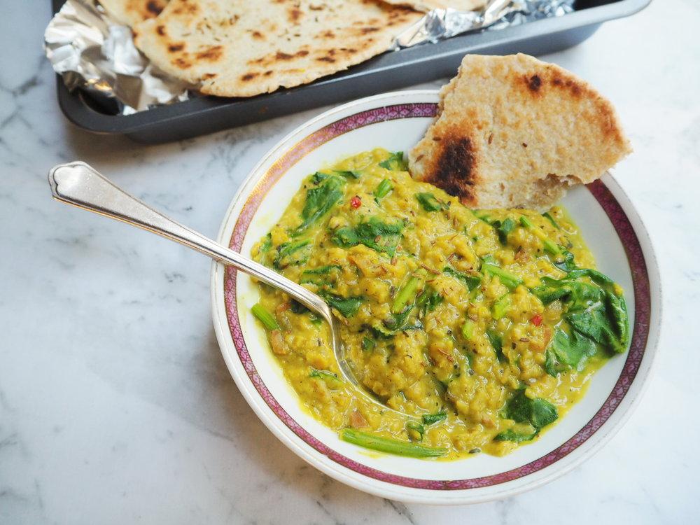 spinach and lentil paruppu