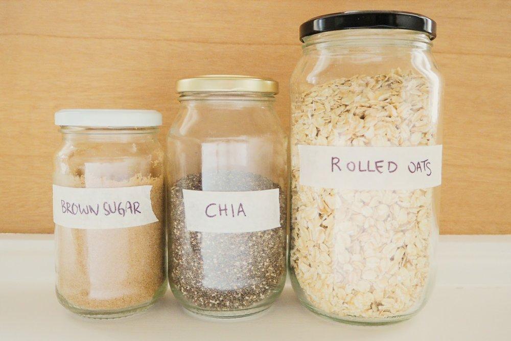 DIY food labels pantry storage