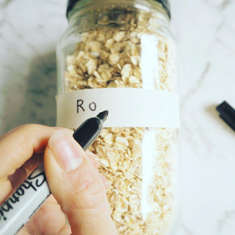 DIY food storage labels eco friendly
