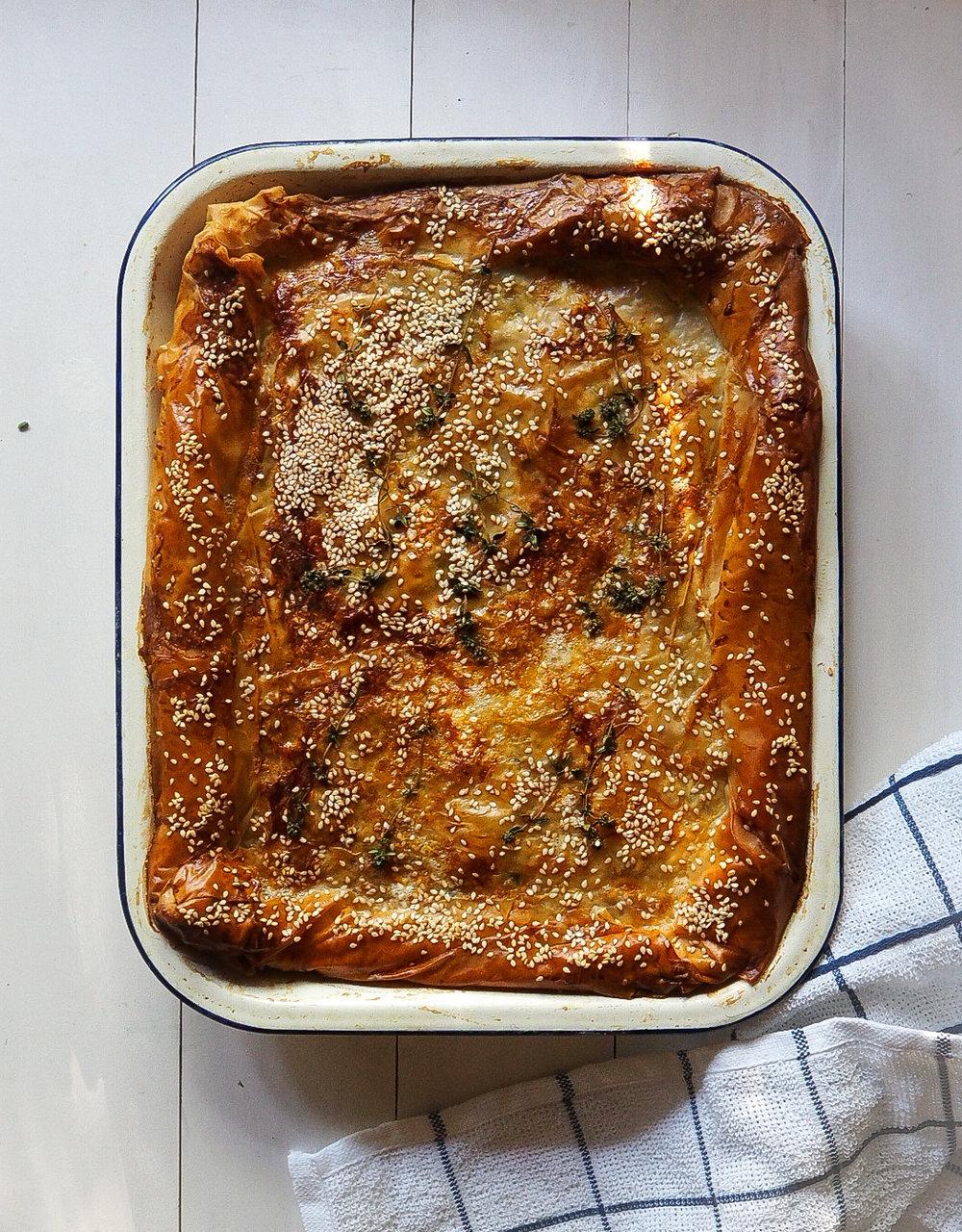 greek chicken pie