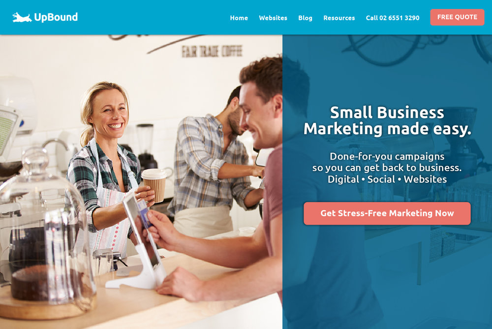Example of a successful website design | UpBound Website Design & Digital Marketing