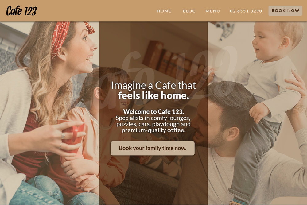 Example of a successful cafe homepage | UpBound Website Design & Digital Marketing