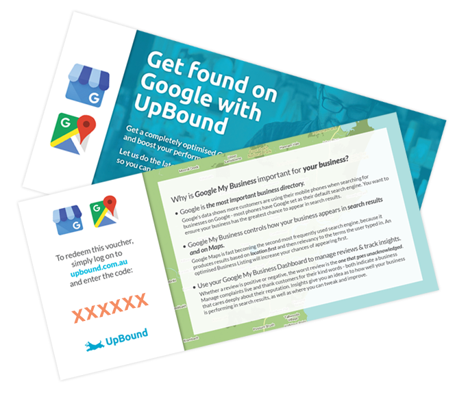 Redeem your Google My Business Vouchers | UpBound Small Business Marketing