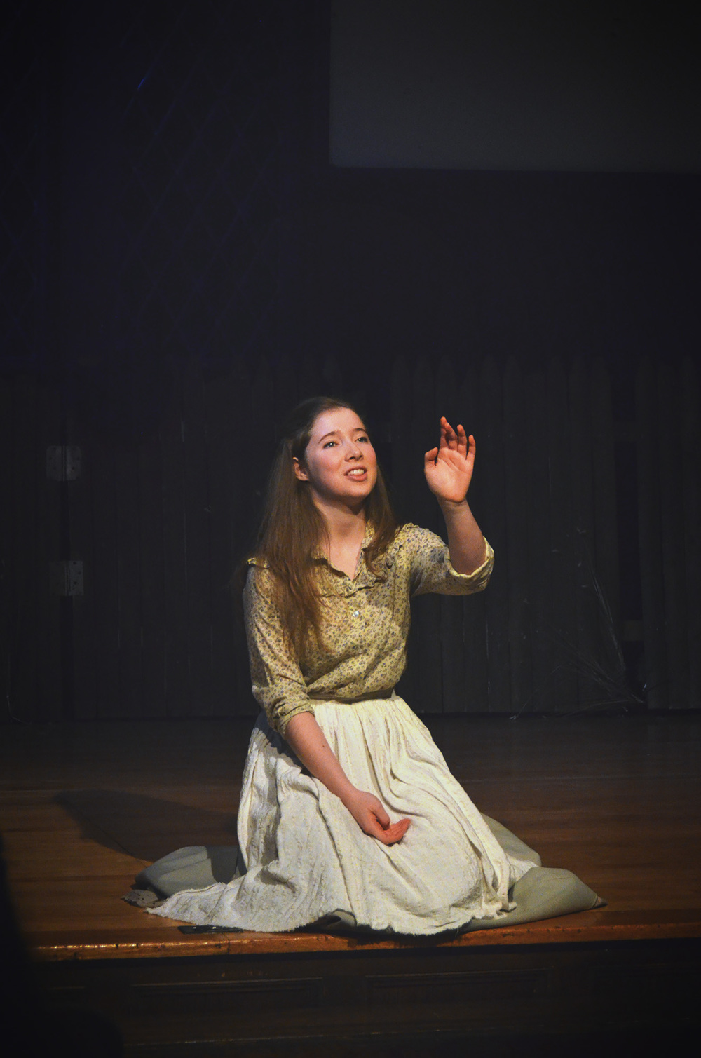 Juliet in  Romeo and Juliet  (The Wellesley College Shakespeare Society, 2013)