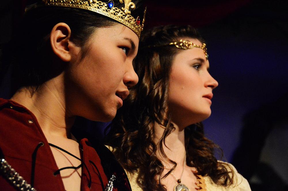 Macbeth and Lady Macbeth in  Macbeth  (The Wellesley College Shakespeare Society, 2012)