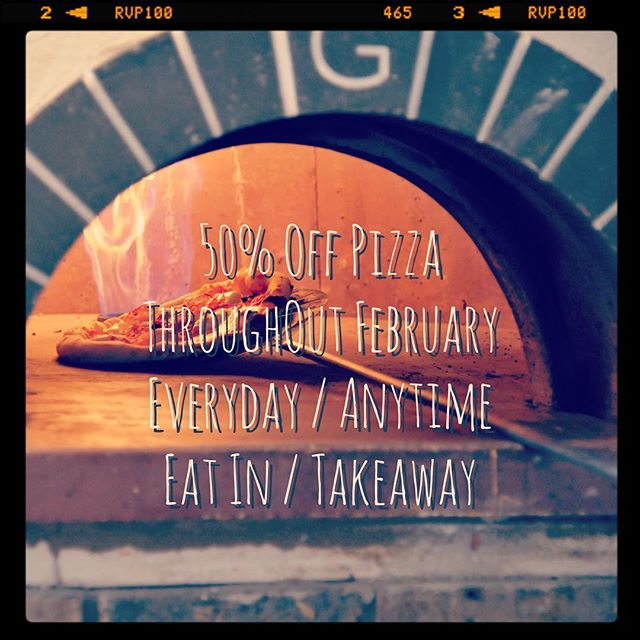 Roll up, roll up! To celebrate our 3rd birthday 🎉 we're giving you 50% off pizza 🍕 everyday at anytime, eat in or takeaway. Come and meet our lovely team and beat away those winter blues. #glutenfree #vegancheese #forestgate #pizzeria #happybirthday (Not in conjunction with any other offers.)