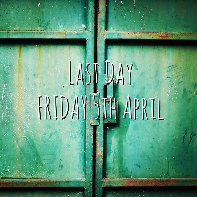 It maybe April Fools but unfortunately this is the truth. In just 4 more sleeps we will be closing the door on our lovely little pizzeria...we hope you'll join us for a last supper. Tonight from 7pm is Monday Madness eat in only. Please note we will not be doing takeaway or delivery so book a table and enjoy lunch or dinner with no washing up. #finalcountdown