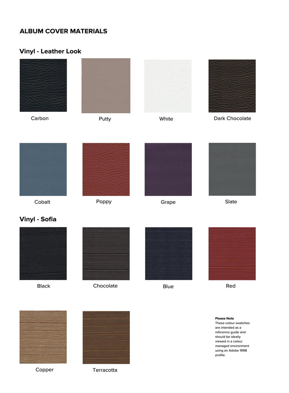 Click to view Vinyl (Faux Leather) & Vinyl (Sophia) Covers