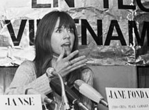 Fonda speaking in opposition to the Vietnam War