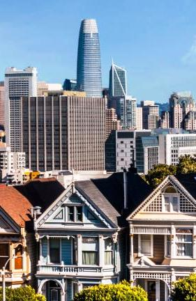 Row Houses and the Salesforce Tower