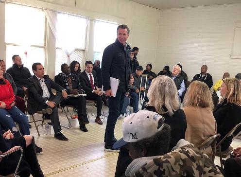 Governor Newsom visited Monterey Park to hear water concerns.