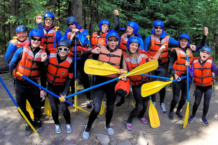 rafting, paintball & MORE! adventures for groups of 12 or more. more info...