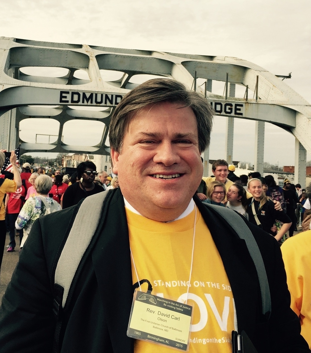 Crossing the Edmund Pettus Bridge in Selma, Alabama on March 8, 2015.