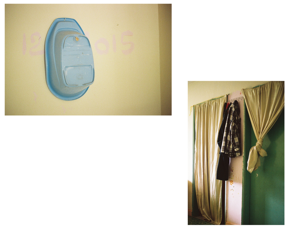 "Bathtub, Archival Print, 18""x 12"", 2015 // Curtains, Archival Print, 12""x 18"", 2015"