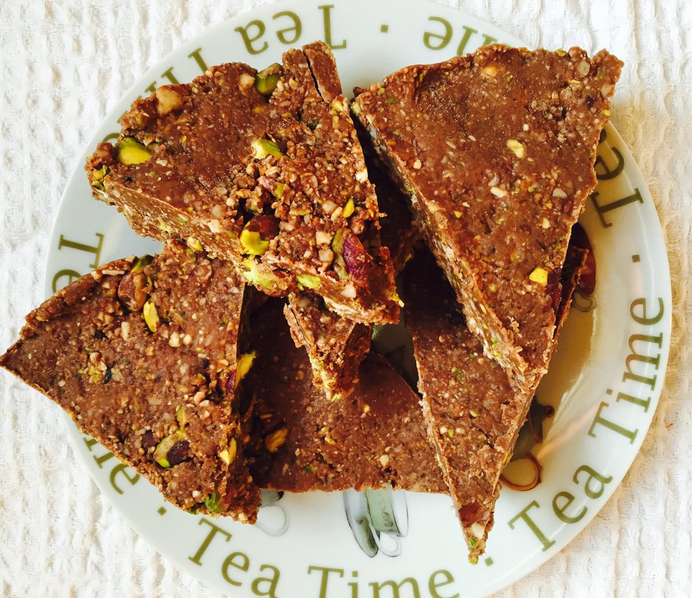 Nutty Cacao Slices (gluten, dairy and grain free, paleo)