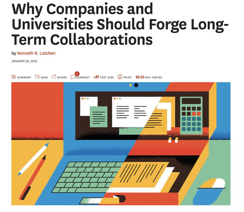 In the News: Why Companies and Universities Should Forge Long-Term Collaborations (HBR)