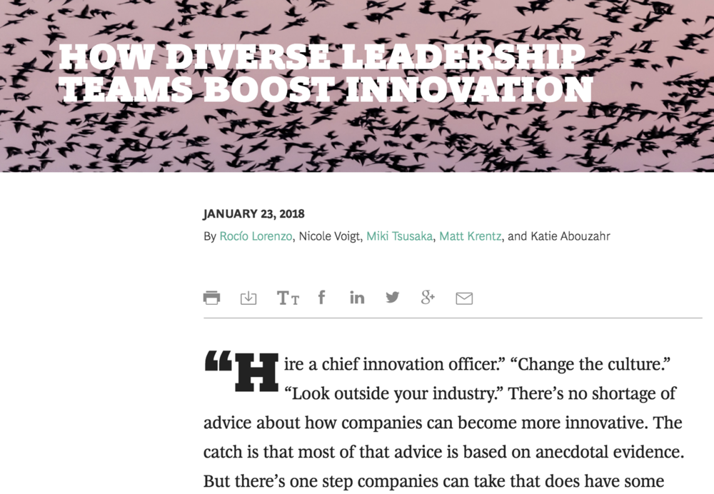 Further Reading: How Diverse Leadership Teams Boost Innovation (www.bcg.com