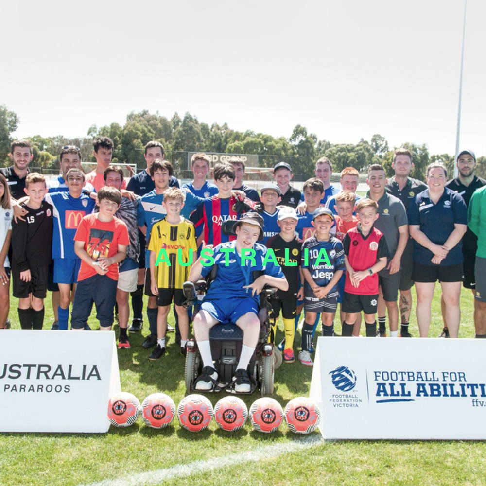 Pararoos & All Abilities Soccer  The Australian Paralympic Football Team and Football Federation Victoria's All Abilities Program