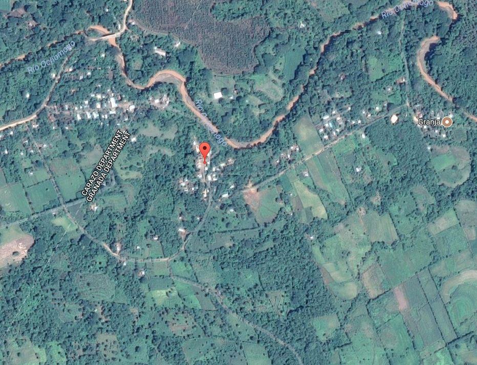 Aerial View of Nicaraguan Community